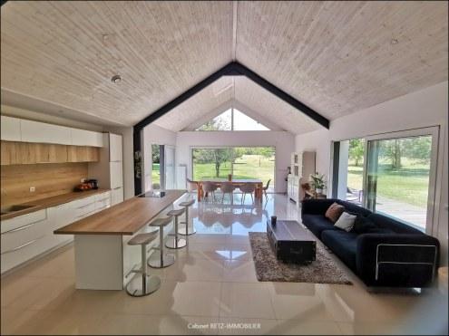 Demeure contemporaine maison moderne jardin hectare nantes à vendre agence immobilière propriete maison a vendre plain pied